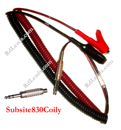 Subsite 830T Coily Cord Leads